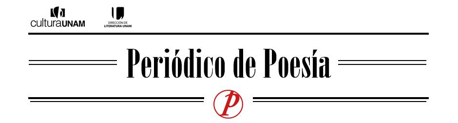 Periódico de Poesía